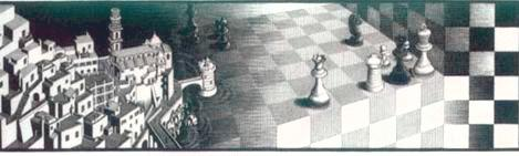 Image--Chess game in Escher's 'Metamorphosis II'