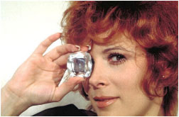 Jill St. John with diamond