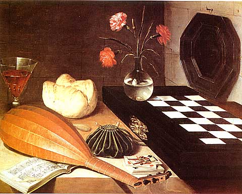 Baugin: Bread, Wine, Chessboard