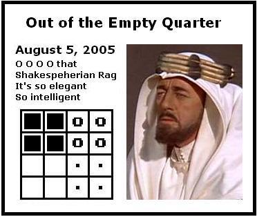 IMAGE- Four quadrants of a Galois tesseract, and a figure from 'Lawrence of Arabia'