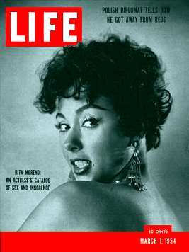 LIFE magazine March 1, 1954, Rita Moreno cover