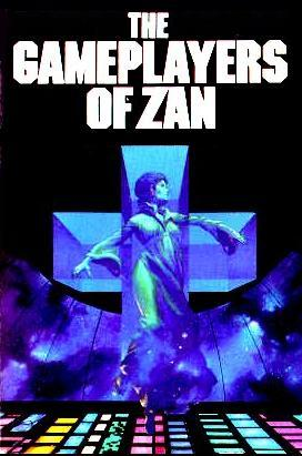 Girl in tesseract on cover of  'The Gameplayers of Zan'