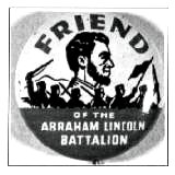 Lincoln Brigade button