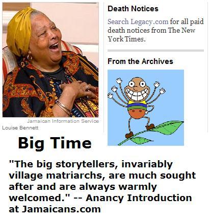 Louise Bennett, storyteller