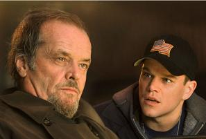 Jack Nicholson and Matt Damon in 'The Departed'