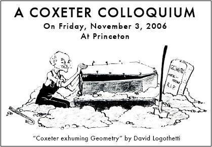 Cartoon of Coxedter exhuming Geometry