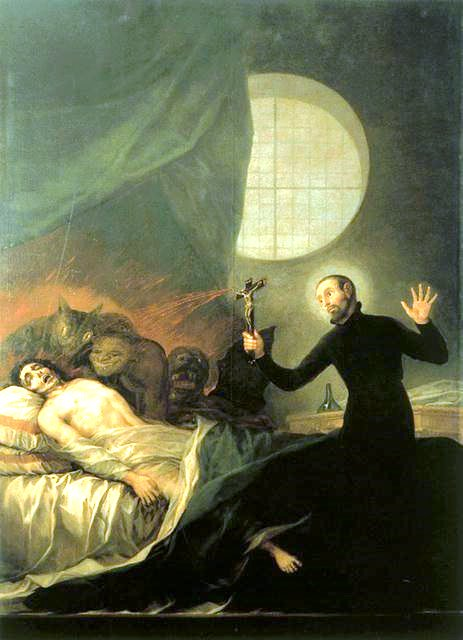 Saint Francis Borgia at the Deathbed of an Impenitent, by Goya
