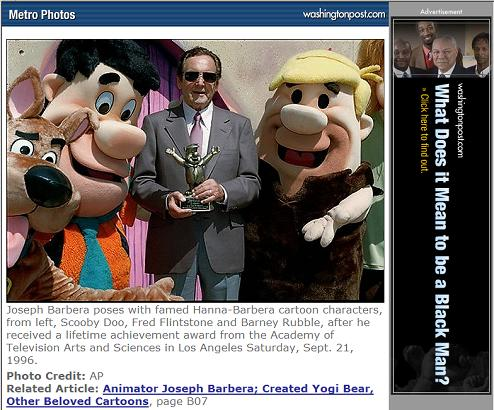 Joseph Barbera in Washington Post