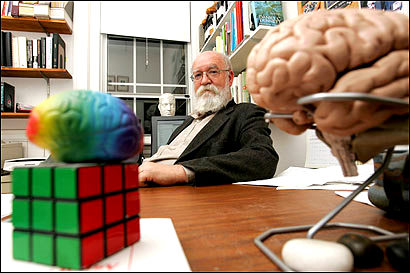 Daniel Dennett in his office