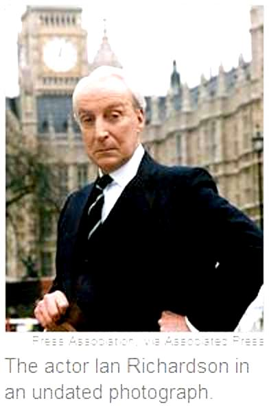 The actor Ian Richardson