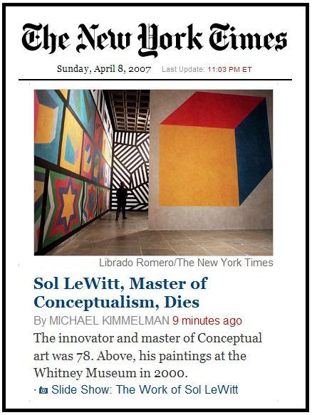 Death of Sol LeWitt