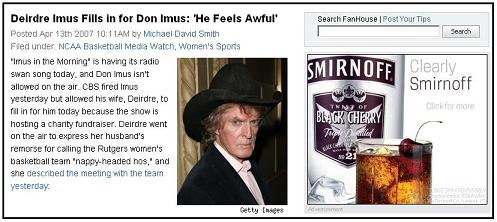 Don Imus at The FanHouse, Friday the 13th