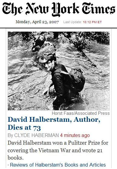David Halberstam dies in car crash