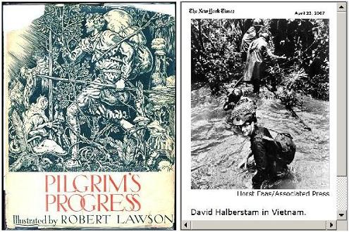 Pilgrim's Progress and David Halberstam