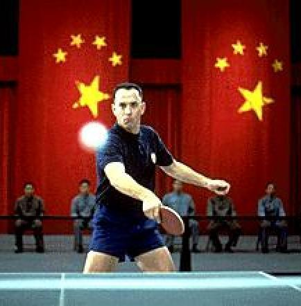 Forrest Gump plays ping-pong in China