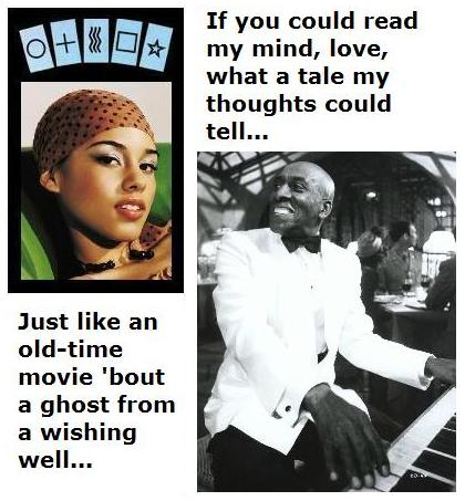 Alicia Keys and Scatman Crothers - 'If you could read my mind, love...'