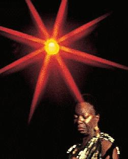 Nina Simone and eight-point star