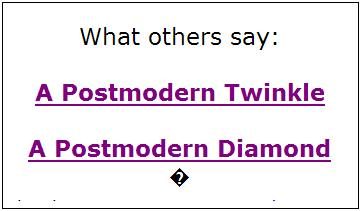 Postmodern Diamond