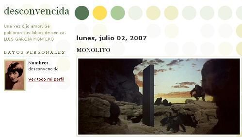 Desconvencida at Blogspot -- Monolito -- Midnight July 1-2, 2007