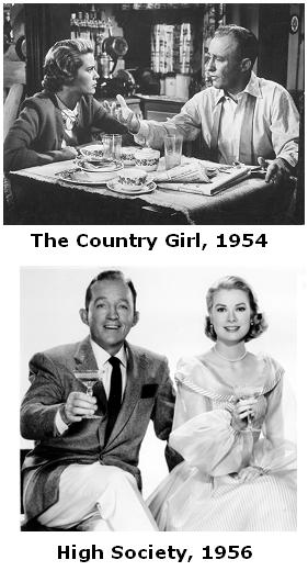 Grace Kelly and Bing Crosby in 'The Country Girl' and 'High Society'