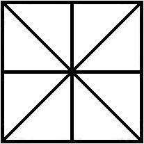 Symmetry axes of the square