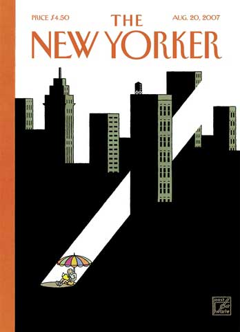 New Yorker cover, Aug. 20, 2007 (echoing Hexagram 14 in the box-style I Ching)