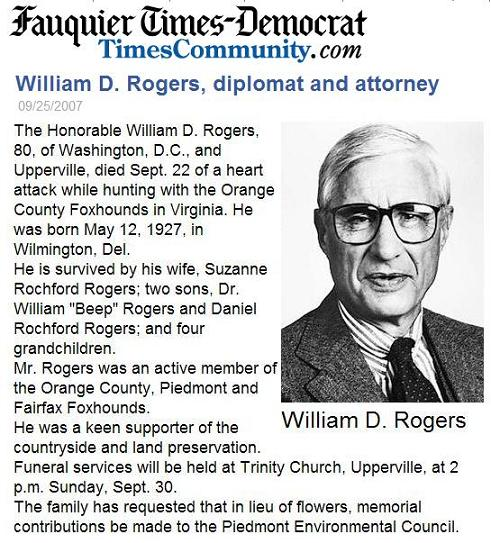 William D. Rogers, Diplomat and Attorney