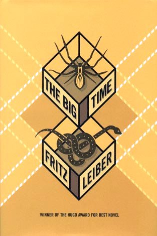 Spider and Snake on cover of Fritz Leiber's novel Big Time