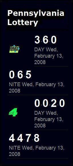 PA Lottery Monolith (Feb. 13, 2008)