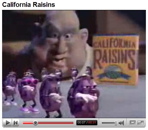 The California Raisins sing 'I Heard It Through the Grapevine'