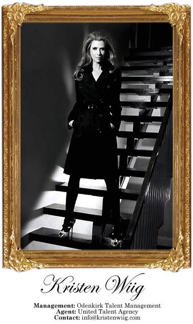 United Talent Agency photo of Kristen Wiig on staircase