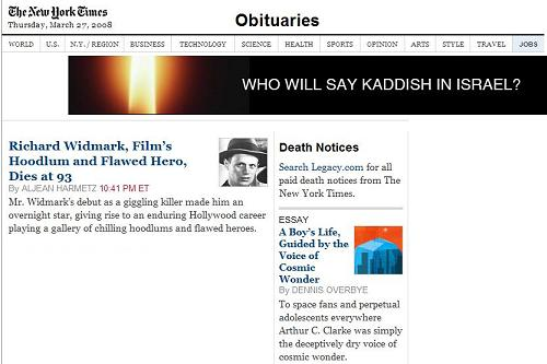 NY Times  obituaries  March 27, 2008