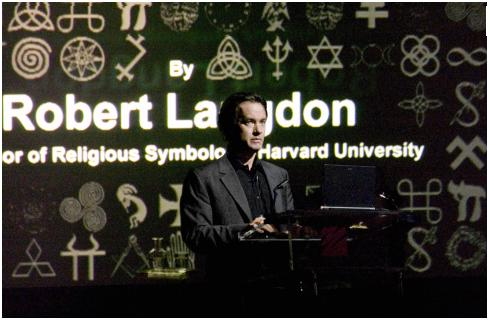 Fictional Harvard professor of symbology Robert Langdon, as portrayed by Tom Hanks