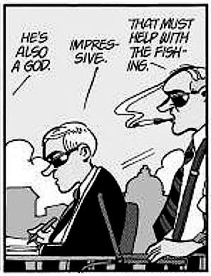 Doonesbury of May 1, 2008: Flashback to Uncle Duke on the leader of Berzerkistan