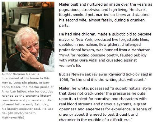 Norman Mailer, May 5, 1998 (with notes)