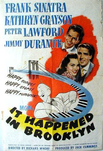Movie poster for 'It Happened in Brooklyn'