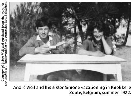 Andre Weil and his sister Simone, summer of 1922