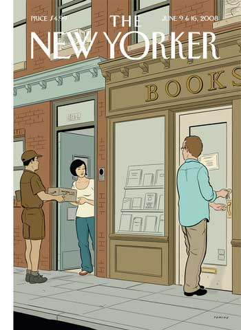 New Yorker cover: Amazon Delivery (June 9 and 16, 2008)