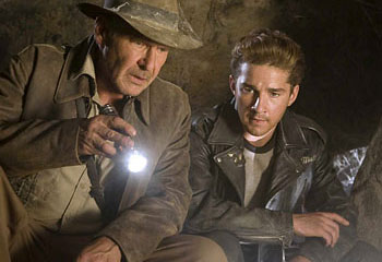 Harrison Ford and Shia LaBoeuf as Father and Son
