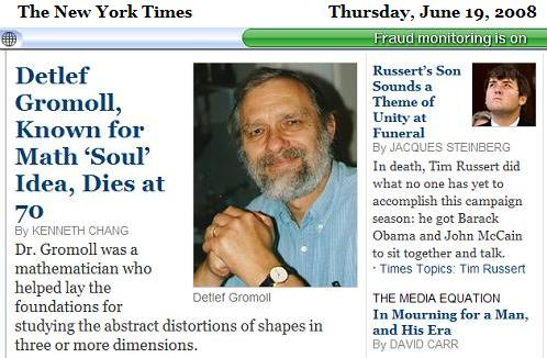 NY Times obituaries June 19, 2008