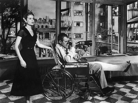 Grace Kelly and James Stewart in 'Rear Window'