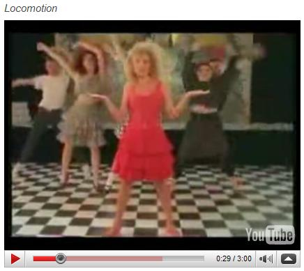 Kylie Minogue does the Locomotion
