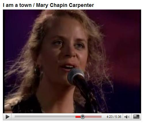 Mary Chapin Carpenter sings 'I Am a Town'