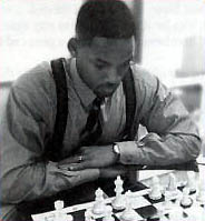 Will Smith with chessboard