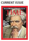 Mark Twain on cover of  TIME, issue dated July 14, 2008