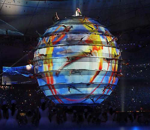 Globe at opening of 2008 Beijing Olympics