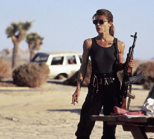 Sarah Connor, mother of the savior in 'Terminator 2'