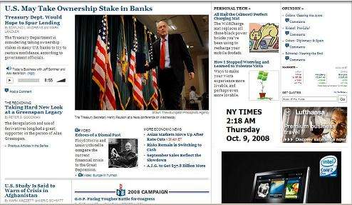 NY Times online 2:18 AM Thursday, Oct. 9, 2008