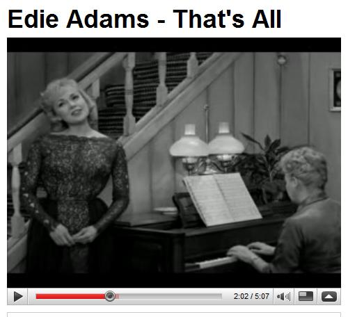 Edie Adams sings 'That's All' on the final 'Lucy-Desi Comedy Hour'