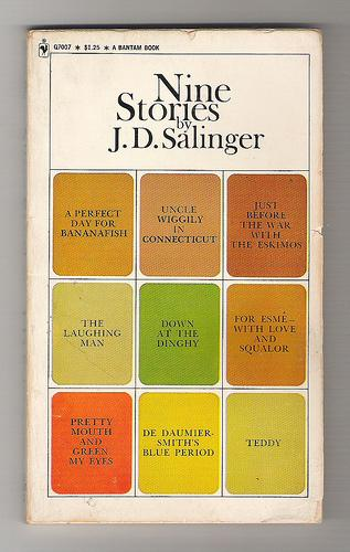 Cover of 'Nine Stories' with 'Dinghy' at center